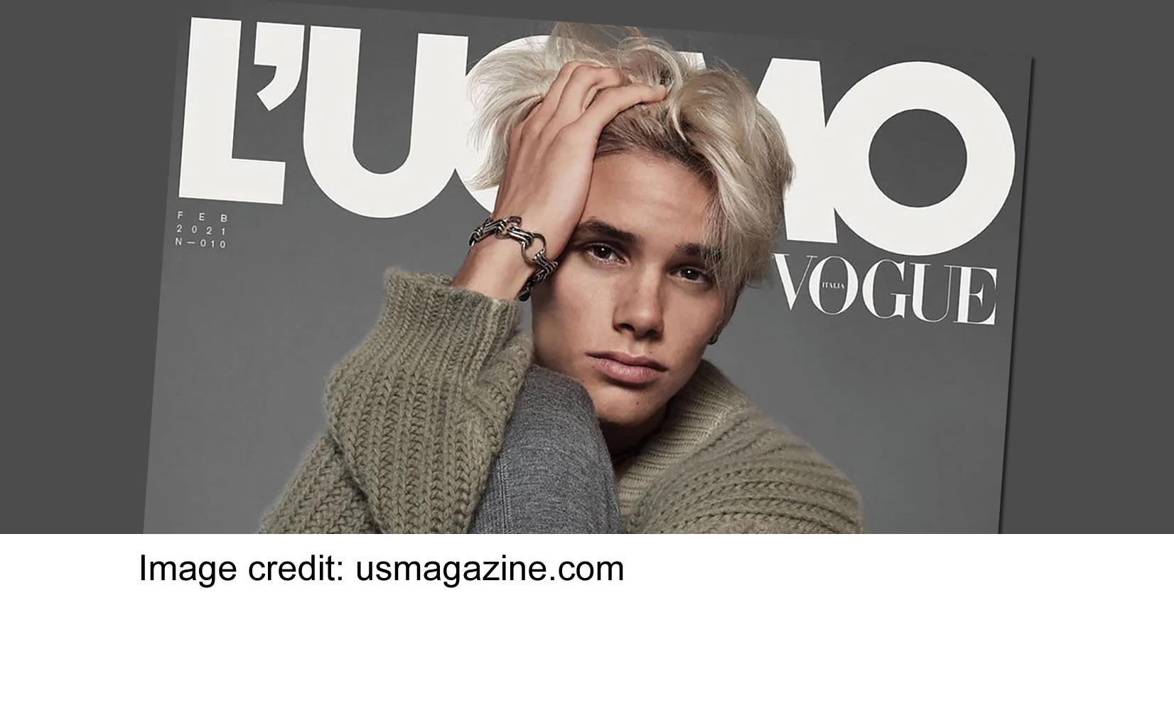 Romeo Beckham's debut on a Magazine as a cover boy!