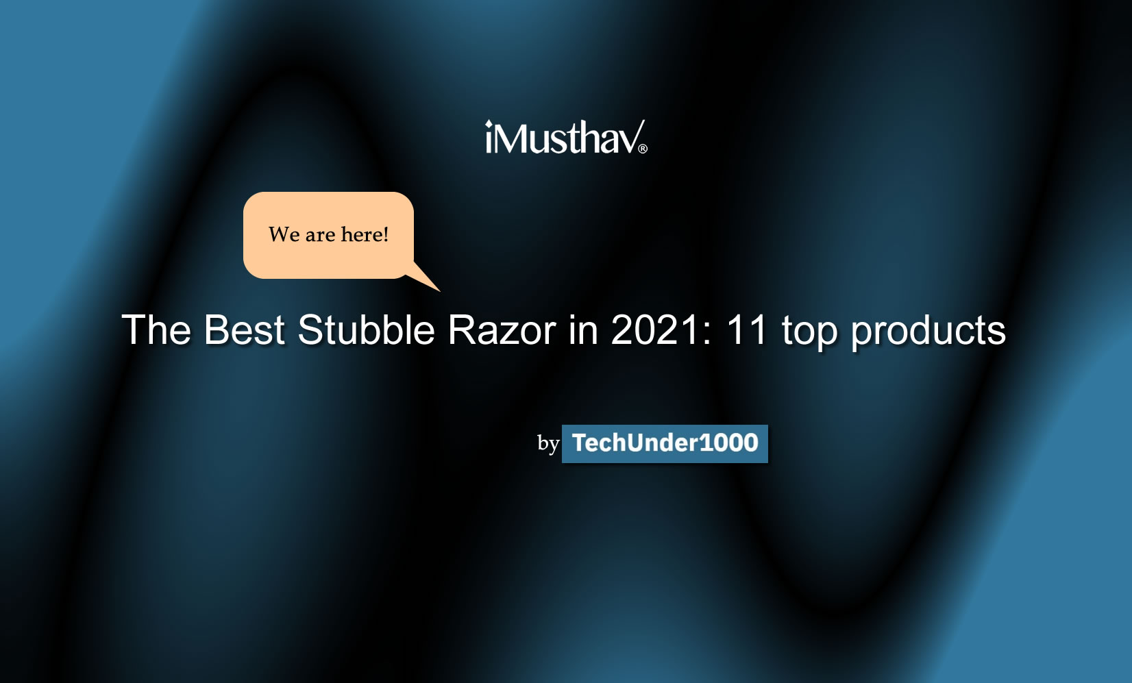 iMusthav® product be the No.1 of The Best Stubble Razor in 2021